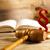 justice · échelle · marteau · naturelles · coloré · bois - photo stock © JanPietruszka