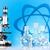 atom molecules model laboratory glassware stock photo © janpietruszka
