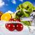 fitness · alimentos · cielo · azul · deporte · energía · grasa - foto stock © JanPietruszka