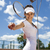 young woman playing tennis natural colorful tone stock photo © janpietruszka