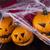 zucca · di · halloween · ragnatela · occhi · sfondo · arancione · spazio - foto d'archivio © janpietruszka