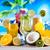 egzotikus · alkohol · italok · szett · gyümölcsök · izolált - stock fotó © janpietruszka