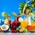 gyümölcs · koktélok · tengerpart · étel · narancs · űr - stock fotó © janpietruszka