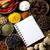cookbook and various spices orintal cuisine vivid theme stock photo © janpietruszka