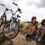 woman riding bicycle summer free time spending stock photo © janpietruszka