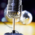retro style microphone music background music saturated concept stock photo © janpietruszka