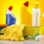 set · prodotti · di · pulizia · lavoro · home · bottiglia · rosso - foto d'archivio © JanPietruszka
