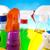 produtos · de · limpeza · trabalhar · casa · garrafa · vermelho · serviço - foto stock © JanPietruszka
