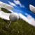 ゴルフボール · 日没 · 緑の草 · 空 · スポーツ · 風景 - ストックフォト © janpietruszka