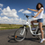 girl riding her bike summer free time spending stock photo © janpietruszka