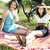 girls on picnic summer free time spending stock photo © janpietruszka