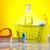 produtos · de · limpeza · trabalhar · casa · fundo · vermelho · serviço - foto stock © JanPietruszka