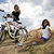 woman bike summer free time spending stock photo © janpietruszka