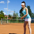 menina · jogar · tênis · naturalismo · colorido · mulher - foto stock © janpietruszka