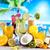 alkohol · italok · szett · gyümölcsök · étel · narancs - stock fotó © JanPietruszka