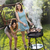 two girls on grill natural colorful tone stock photo © janpietruszka