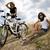 girl riding her bike summer free time spending stock photo © janpietruszka