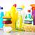 schoonmaken · uitrusting · werk · home · fles · Rood - stockfoto © JanPietruszka