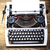 macchina · da · scrivere · tavola · nero · vintage · moderno · laptop - foto d'archivio © janpietruszka