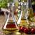 azeite · vinagre · garrafas · manjericão · isolado · branco - foto stock © janpietruszka