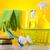 szett · takarítószerek · munka · otthon · üveg · piros - stock fotó © JanPietruszka