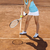 Girl playing tennis on the court stock photo © JanPietruszka