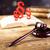paragraph law theme mallet of judge wooden gavel stock photo © janpietruszka