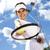 mulher · jogar · tênis · naturalismo · colorido · diversão - foto stock © janpietruszka