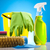 temizleme · ürünleri · çalışmak · ev · şişe · kırmızı · hizmet - stok fotoğraf © JanPietruszka