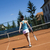 Young woman playing tennis, natural colorful tone stock photo © JanPietruszka