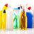 conjunto · produtos · de · limpeza · trabalhar · casa · garrafa · vermelho - foto stock © JanPietruszka
