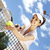 mulher · jovem · jogar · tênis · naturalismo · colorido · mulher - foto stock © JanPietruszka