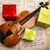 dom · violino · valentine · flor · amor · folha - foto stock © JanPietruszka