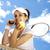 woman playing tennis in summer stock photo © janpietruszka