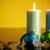 christmas · decoraties · kaarsen · Blauw · achtergrond · vak - stockfoto © jarenwicklund