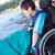 幸せ · 無効になって · 少年 · 屋外 · 車いす - ストックフォト © jarenwicklund