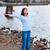 十代の少女 · 立って · ビーチ · 風船 · 日 · 時間 - ストックフォト © jarenwicklund