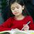child doing her homework stock photo © jarenwicklund