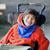 handsome happy biracial eight year old boy smiling in wheelchai stock photo © jarenwicklund