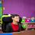 笑い · 小さな · 男子生徒 · 座って · 教室 · デスク - ストックフォト © jarenwicklund
