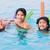 улыбаясь · мальчика · девочку · Бассейн · аквапарк · воды - Сток-фото © jarenwicklund