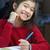 enfant · devoirs · six · ans · fille · nuit · école - photo stock © jarenwicklund