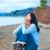 молодые · подростка · девушка · сидят · озеро · пирс · молиться - Сток-фото © jarenwicklund