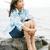 szczęśliwy · mały · asian · dziewczyna · parku - zdjęcia stock © jarenwicklund