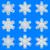 ayarlamak · mavi · kar · taneleri · simgeler · mandala · Noel - stok fotoğraf © jarin13