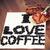 愛 · コーヒー · 心臓の形態 · コーヒー豆 · スプーン · カップ - ストックフォト © jarin13