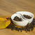 cups with coffee beans on a wooden table stock photo © jarin13