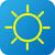 weather web icon with sun stock photo © jarin13