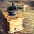 eski · kahve · öğütücü · fasulye · yalıtılmış · beyaz - stok fotoğraf © jarin13
