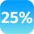 25 percent icon stock photo © jarin13